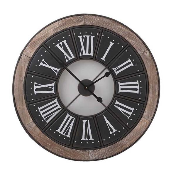 Ceas cu lemn şi metal Henric