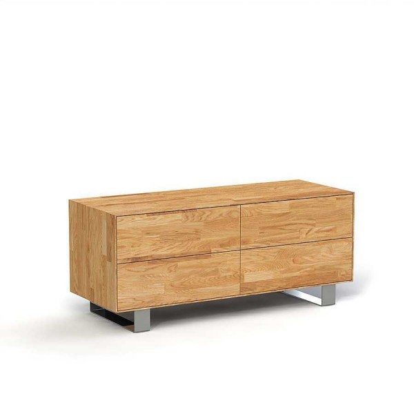 Comoda din lemn masiv de stejar natural Steel, L132xl50xh56 cm