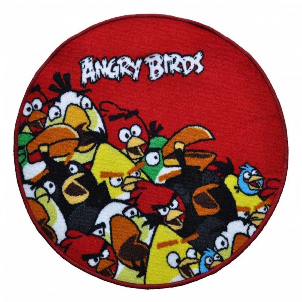 Covor Angry Birds Crowded Red