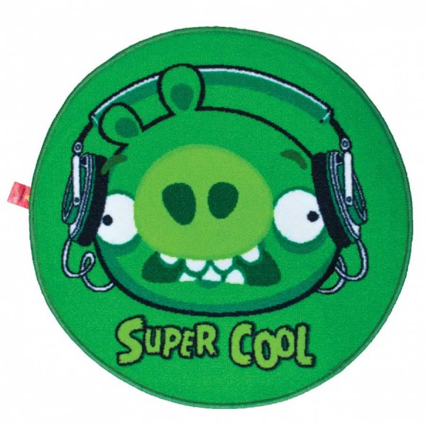 Covor Angry Birds Piggy Super Cool Green