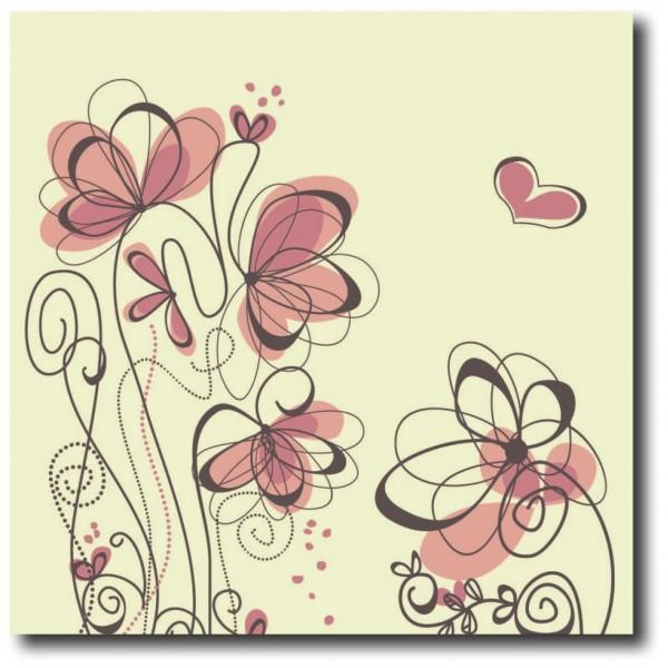 Tablou decorativ | Flower Sketch 2