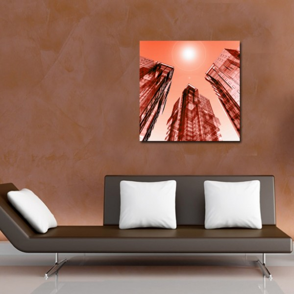 Tablou Canvas | Red Abstract Towers