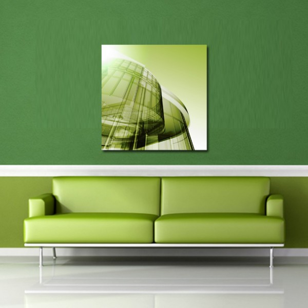 Tablou Canvas | Green Abstract Building