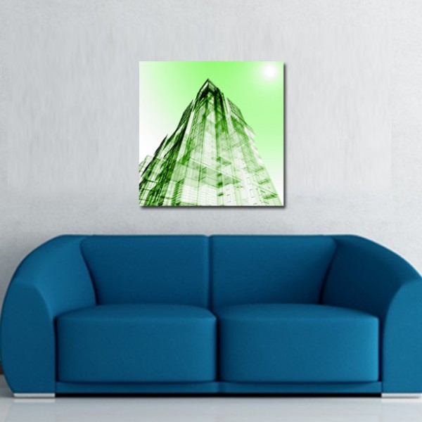 Tablou Canvas | Green Abstract Building 2