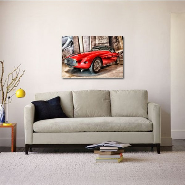 Tablou Canvas | Classic Red Fiat