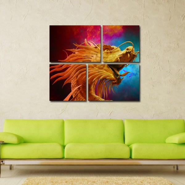 Tablou Decorativ Golden Dragon