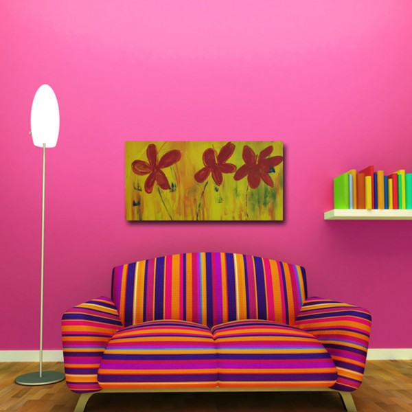 Tablou Decorativ | Flori Pictate