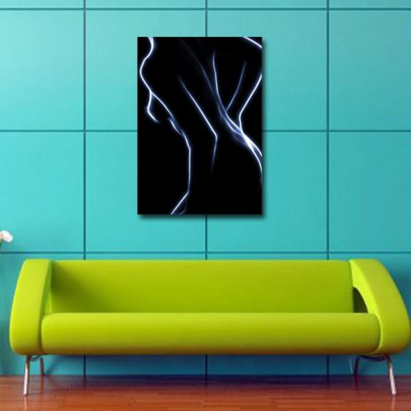 Tablou Decorativ | Nud Alb Negru Abstract