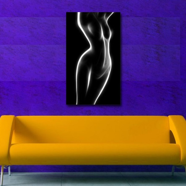 Tablou Decorativ | Nud Alb Negru Abstract 2