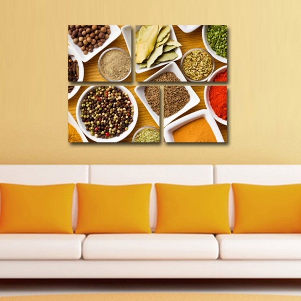 Tablou Canvas | Condimente si farfurii
