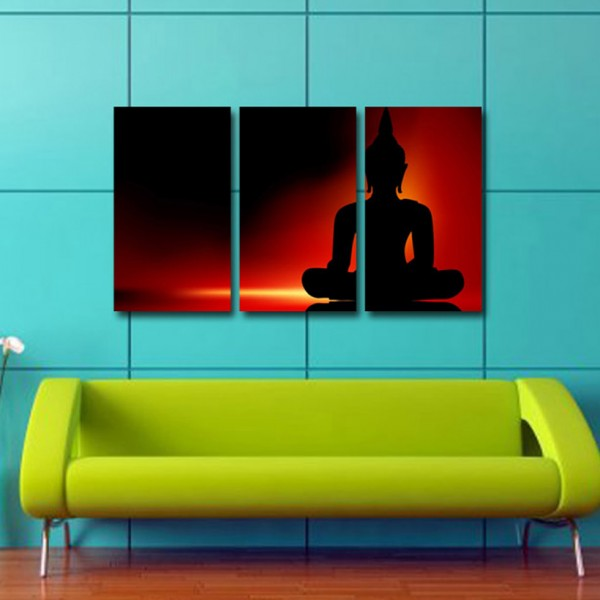 Tablou Canvas trei piese | Lord Buddah
