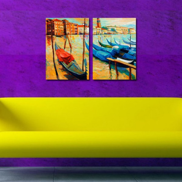 Tablou Canvas 2 piese   Venetia pictata