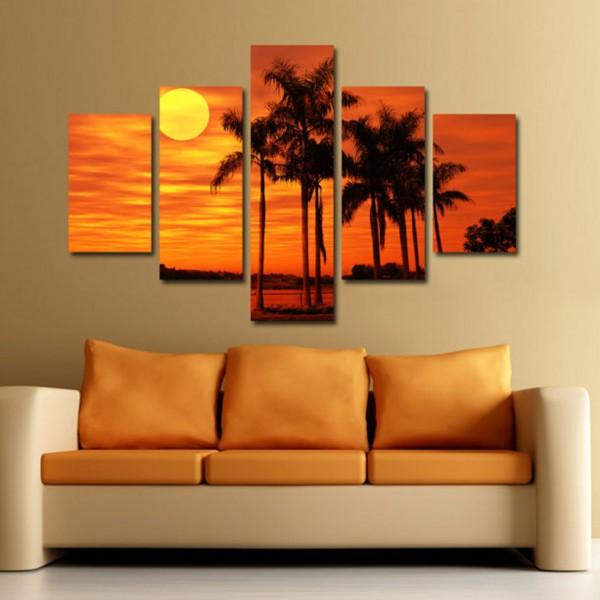 Tablou Canvas   Peisaj Orange