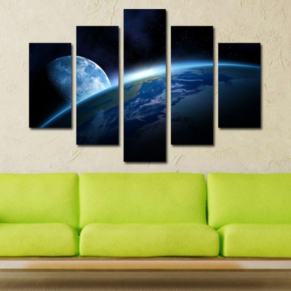 Tablou Canvas 5 piese   Spatiu Albastru