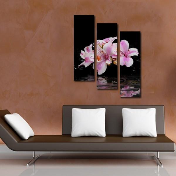 Tablou Canvas 3 piese | Flori Verticale