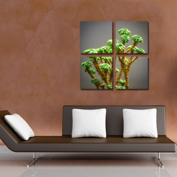 Tablou Canvas 4 piese | Flori de Cactus