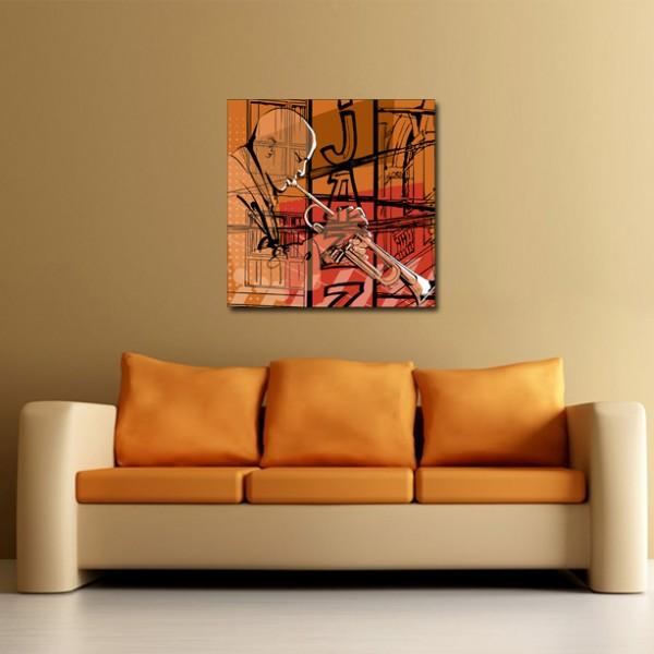 Tablou Canvas | Orange Jazz Man