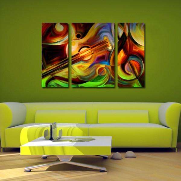 Tablou Canvas 3 piese | Note Abstracte muzicale
