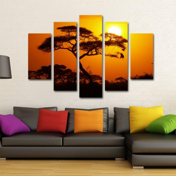 Tablou Canvas 5 piese | Peisaj African
