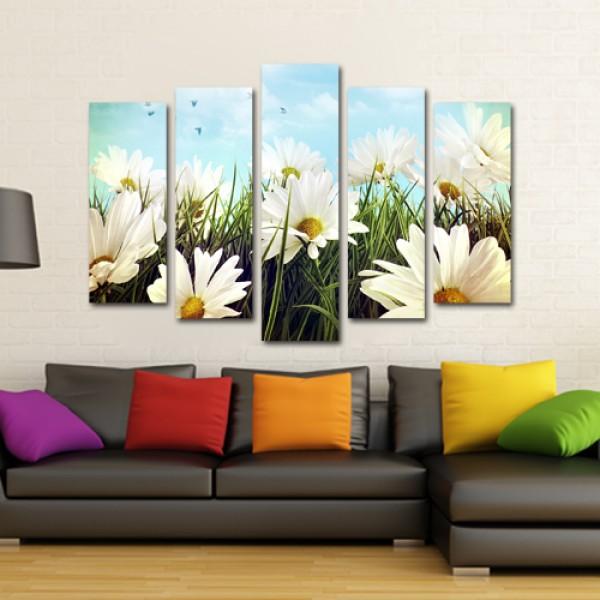 Tablou Canvas 5 piese | Flori de camp