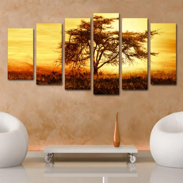 Tablou Canvas 6 piese| Peisaj African