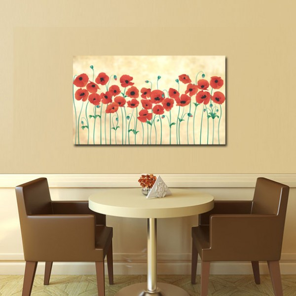 Tablou Canvas  | Flori rosii