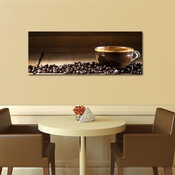 Tablou Canvas  | Cana si boabe de cafea
