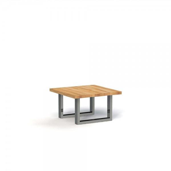 Masa de cafea din lemn masiv de stejar natural Steel, L80xl80xh45 cm