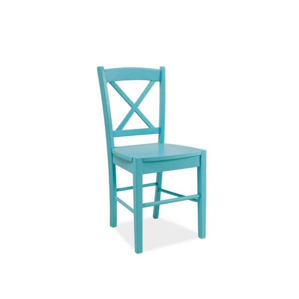 Scaun din lemn CD-56 albastru deschis