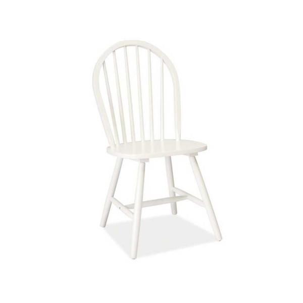 Scaun din lemn masiv alb Fiero