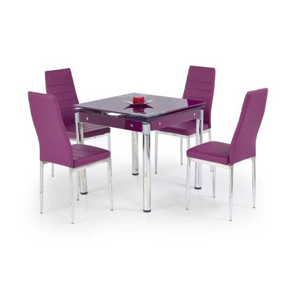 Masa extensibila din sticla Kent violet