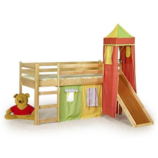 Pat din lemn de pin pentru copii Flo