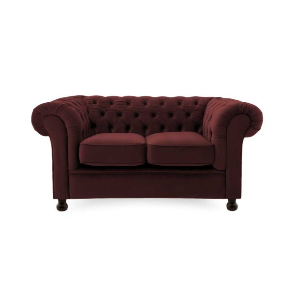 Canapea Fixa 2 locuri Chesterfield Burgundy Red