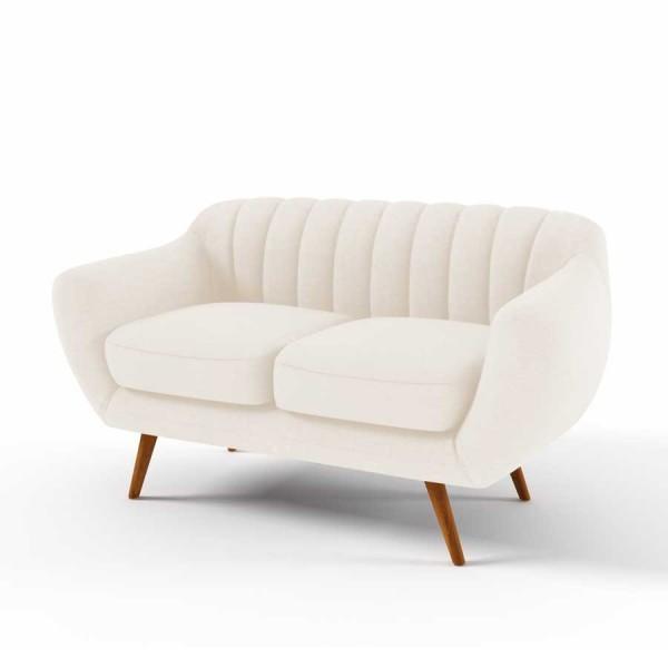 Canapea Fixa 2 locuri Kennet Cream
