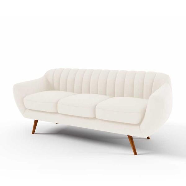 Canapea Fixa 3 locuri Kennet Cream
