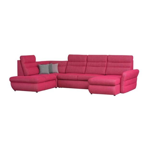 Coltar tapitat extensibil Jazz Pink cu extensie pe partea stanga