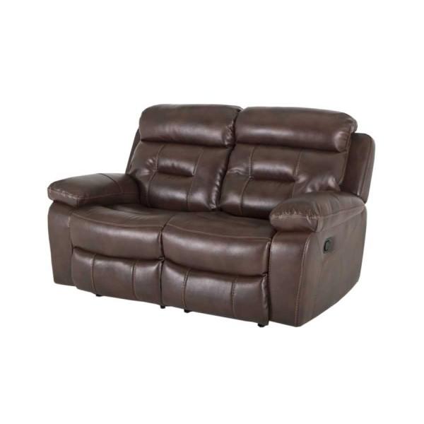 Canapea 2 locuri recliner Legend Brown