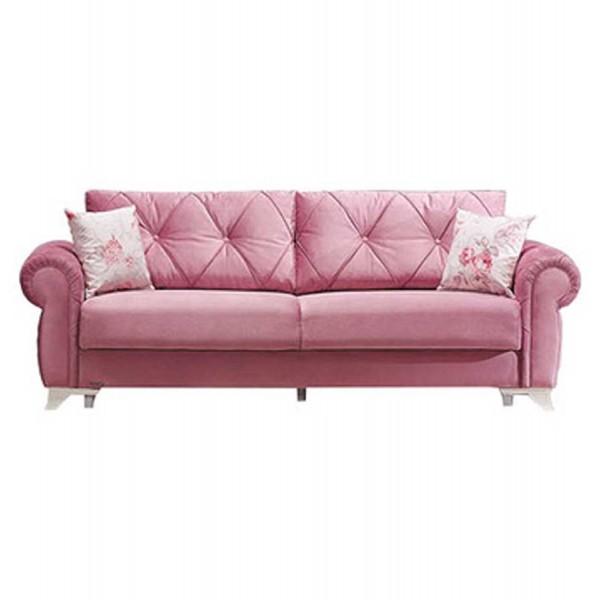 Canapea extensibila 3 locuri Mito Pink