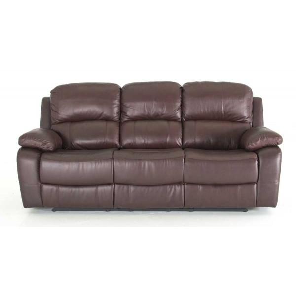 Canapea 3 locuri recliner Primo Brown