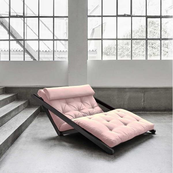 Canapea extensibila Figo Wenge Pastel Pink