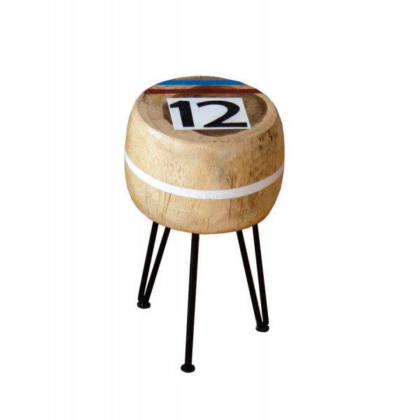 Scaun din metal si lemn de salcam Natural No. 12