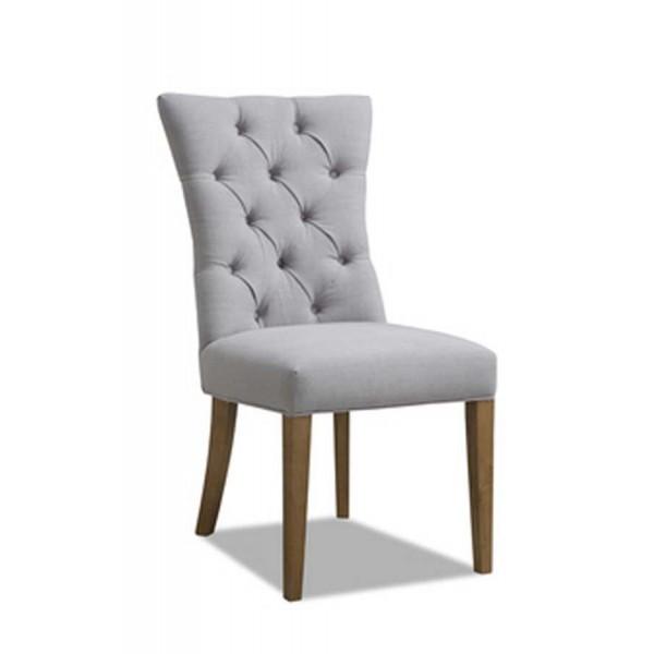 Scaun din lemn tapitat Estel Grey
