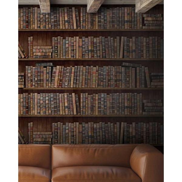 Set 3 role Tapet Imprimat Digital Book Shelf