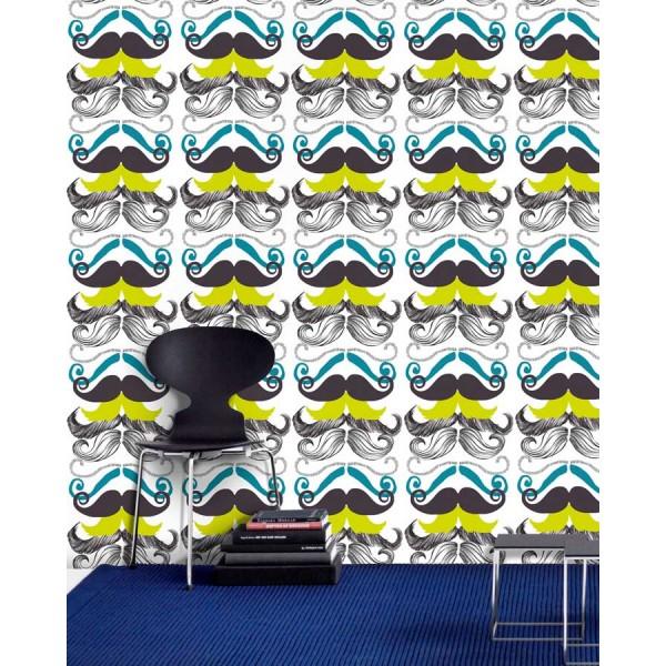 Set 3 role Tapet Imprimat Digital Different Moustaches