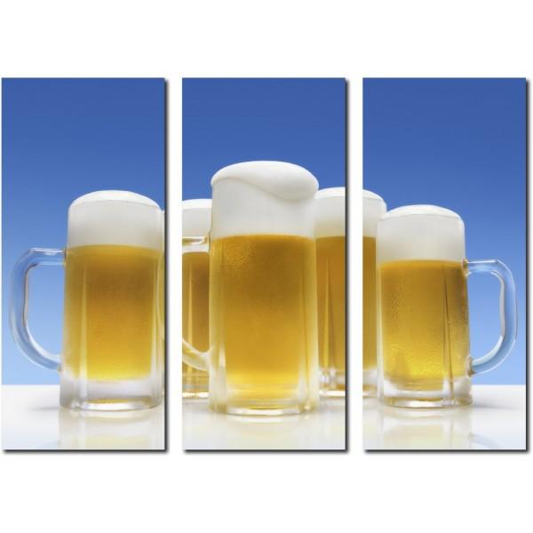 Tablou Canvas 3 piese | Beer Pint